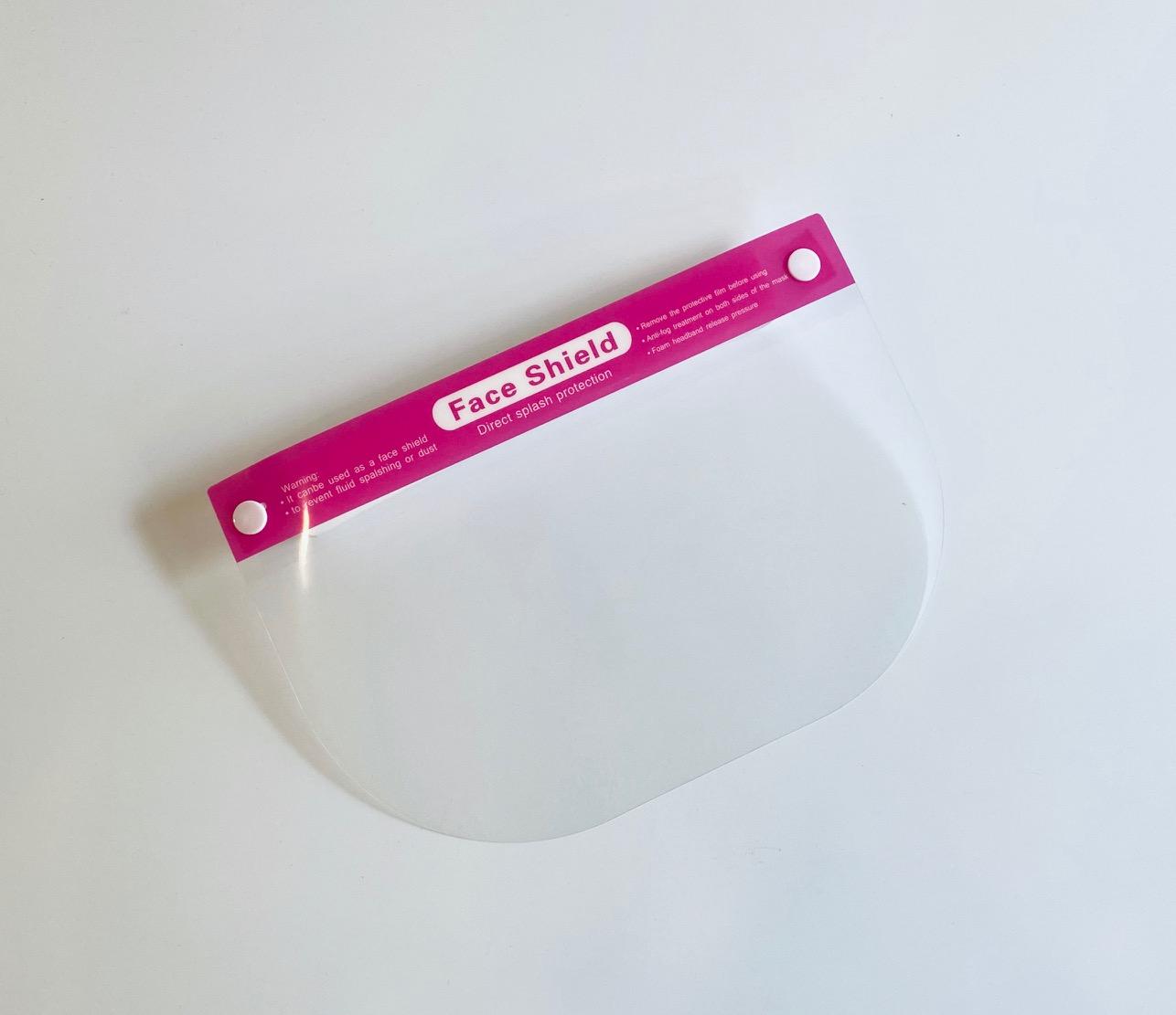 フェイスシールド子供用ピンク
